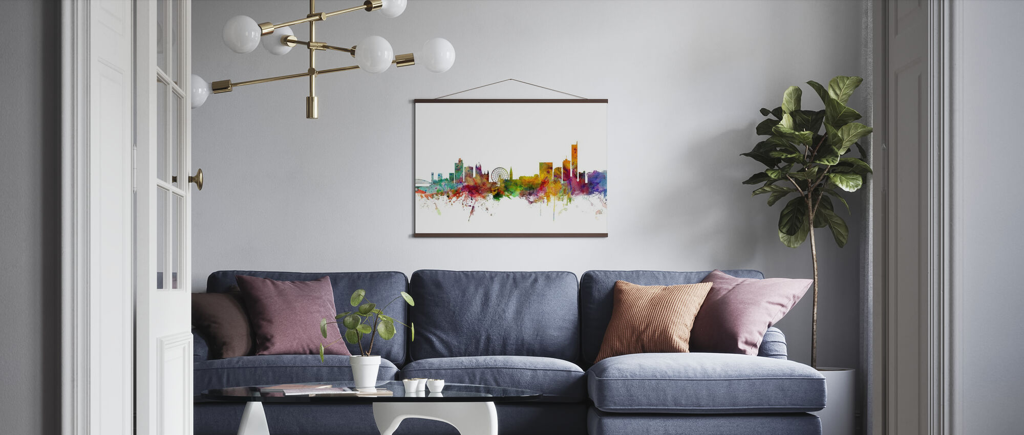 Manchester Skyline - Poster - Living Room