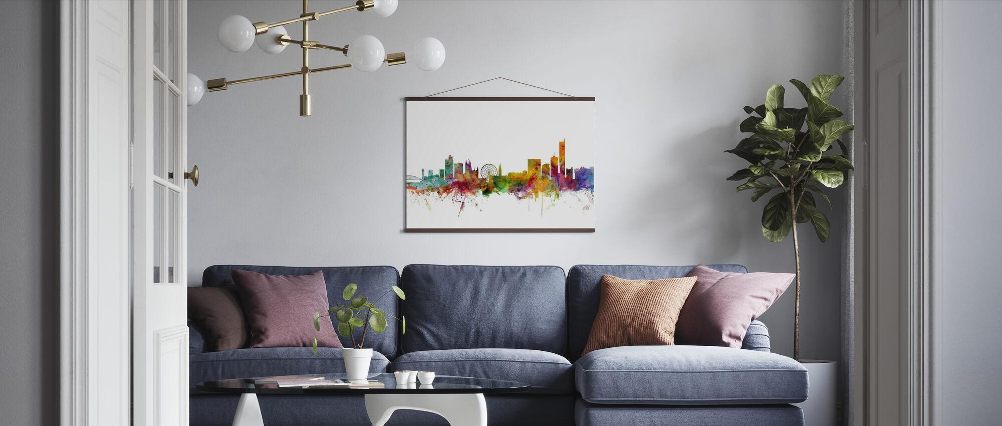 Skyline von Manchester - Poster - Wohnzimmer