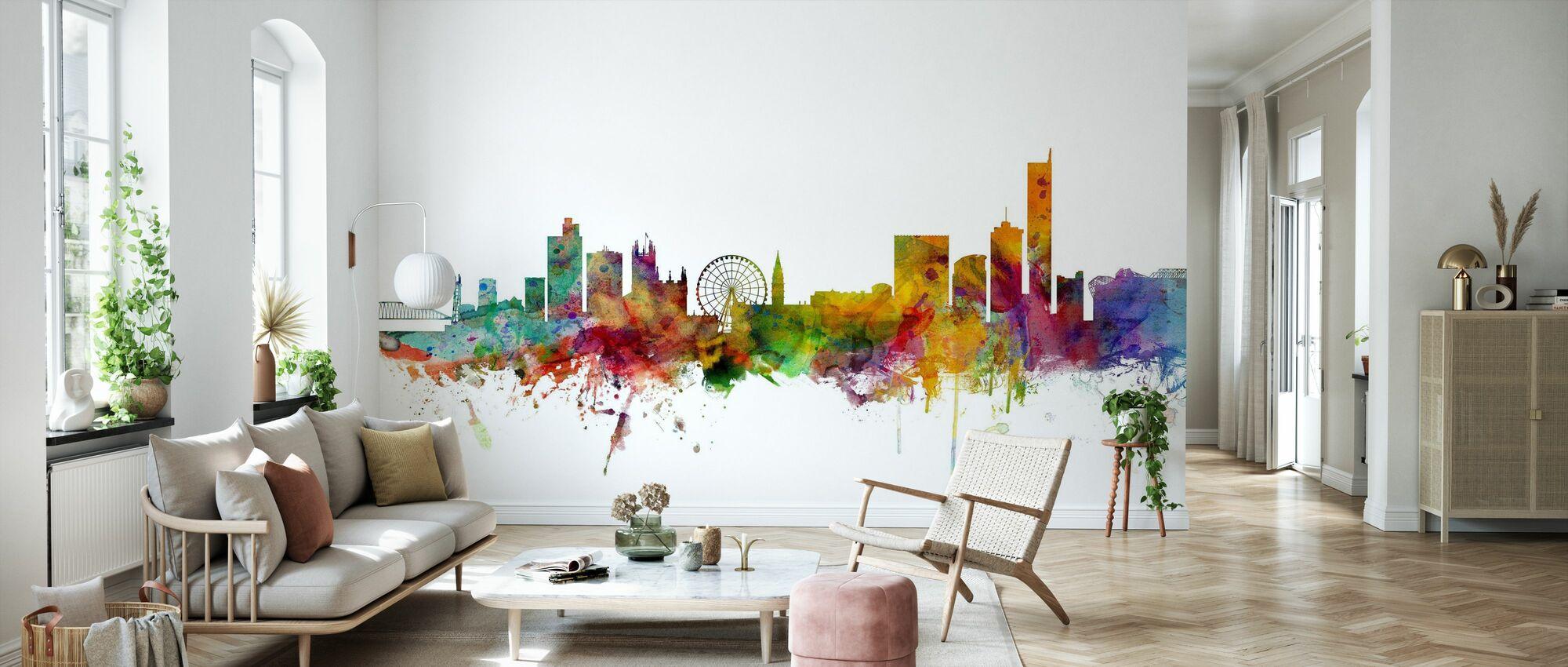 Manchester Skyline - Wallpaper - Living Room