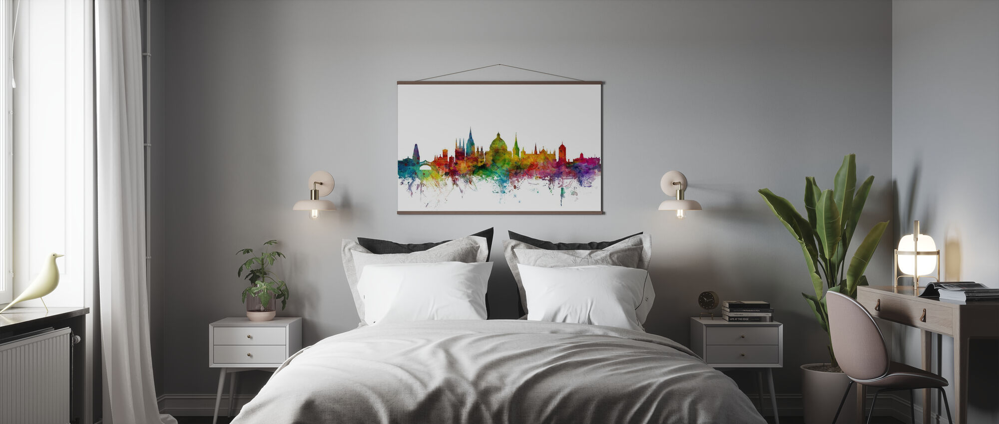 Oxford Skyline - Poster - Slaapkamer