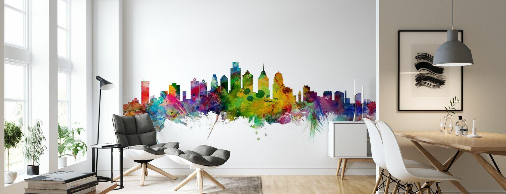 Philadelphia Skyline - Wallpaper - Living Room