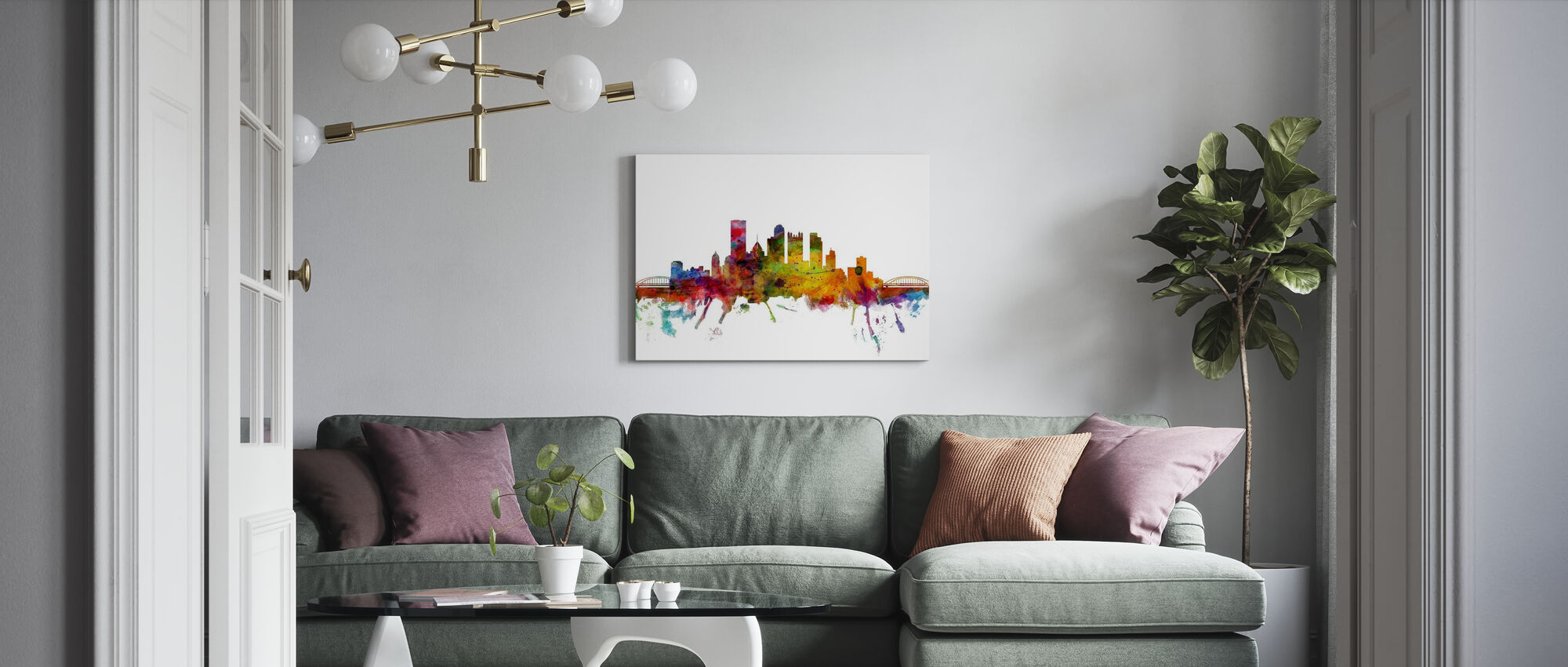 Pittsburgh Skyline - Canvas print - Living Room