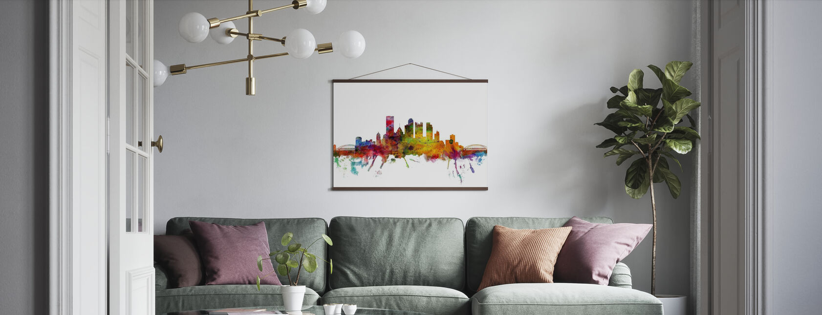 Pittsburgh Skyline - Poster - Living Room