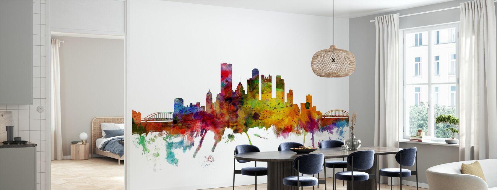 Skyline von Pittsburgh - Tapete - Küchen