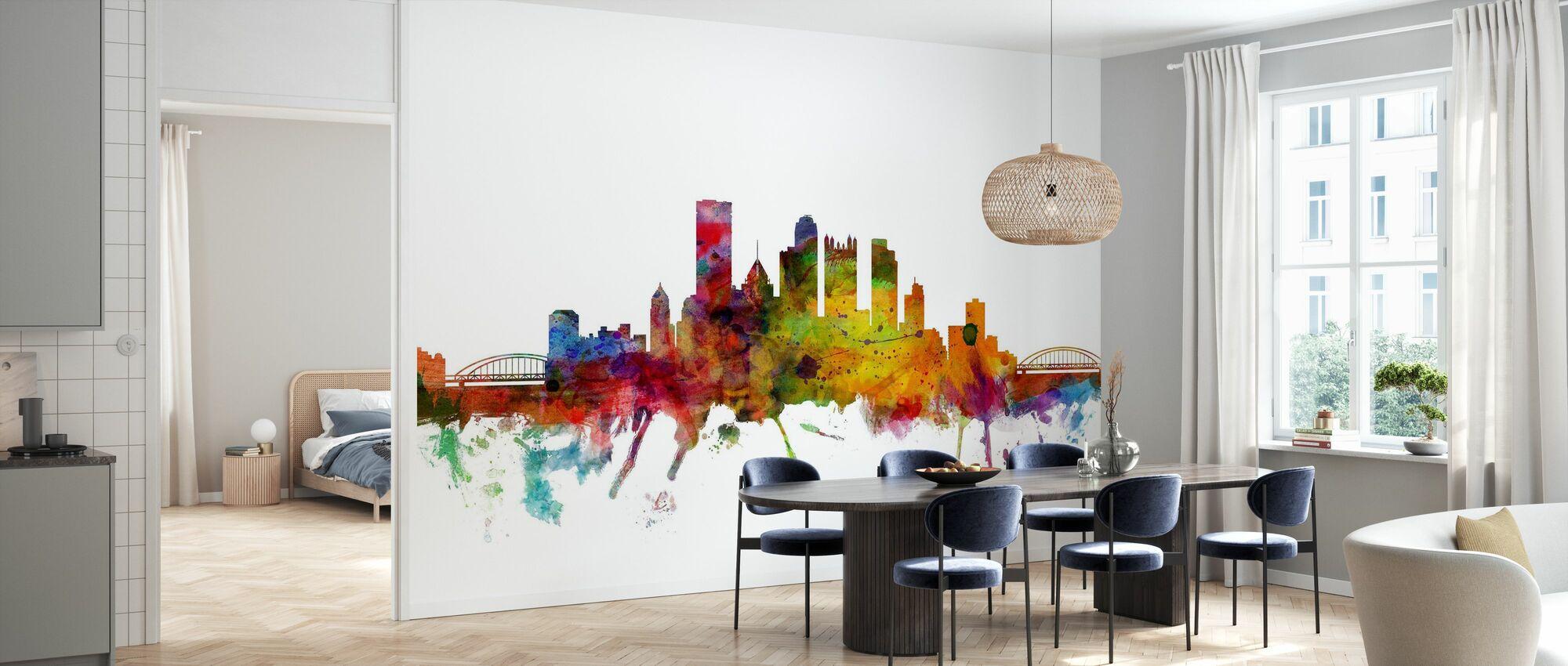 Pittsburgh Skyline - Wallpaper - Kitchen