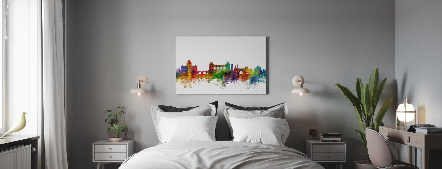 Rome Skyline - Canvas print - Bedroom