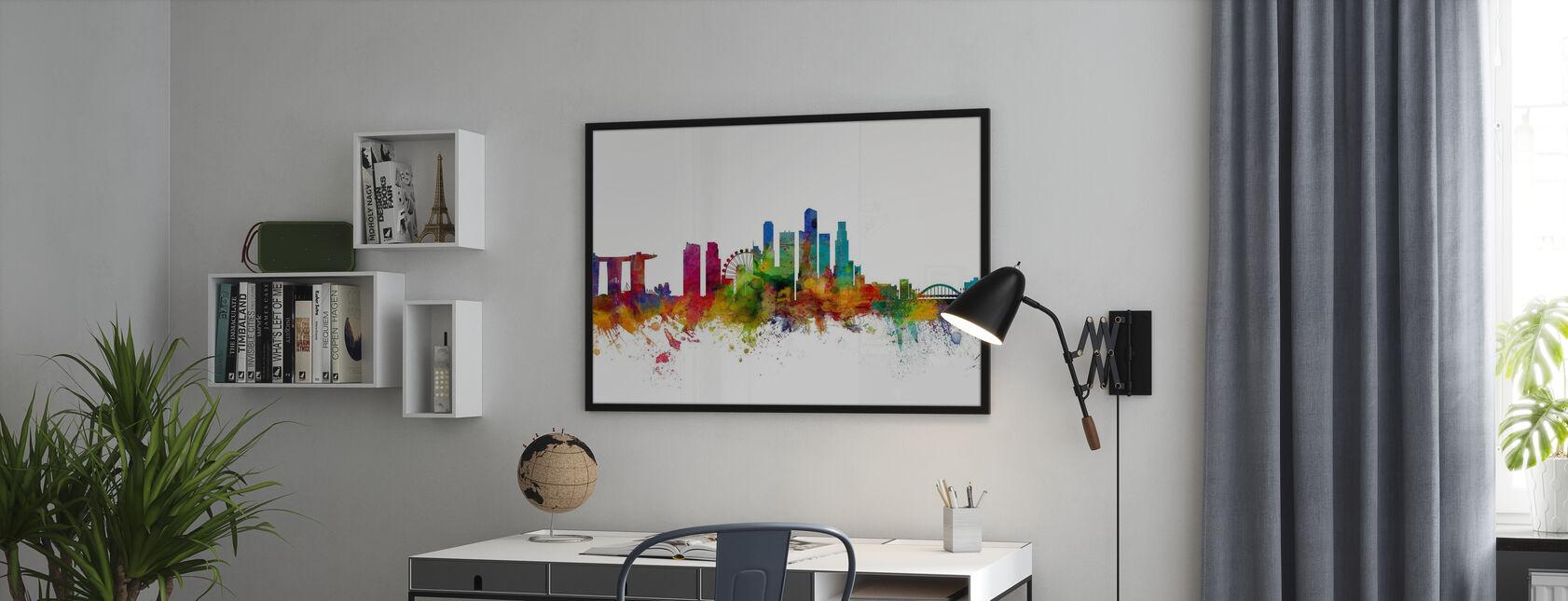 Singapore Skyline - Framed print - Office
