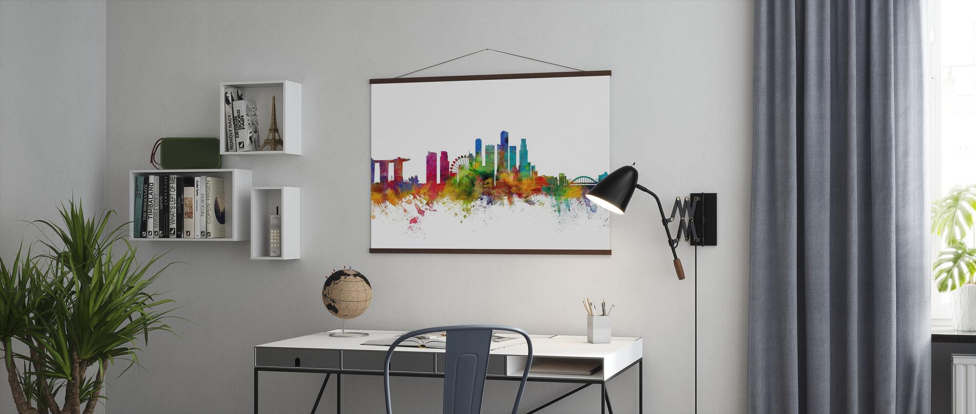 Skyline von Singapur - Poster - Büro