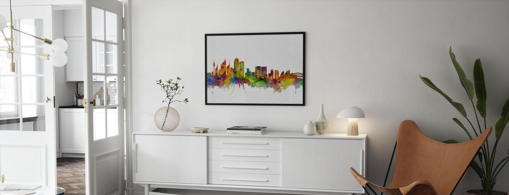 Sydney Skyline - Framed print - Living Room