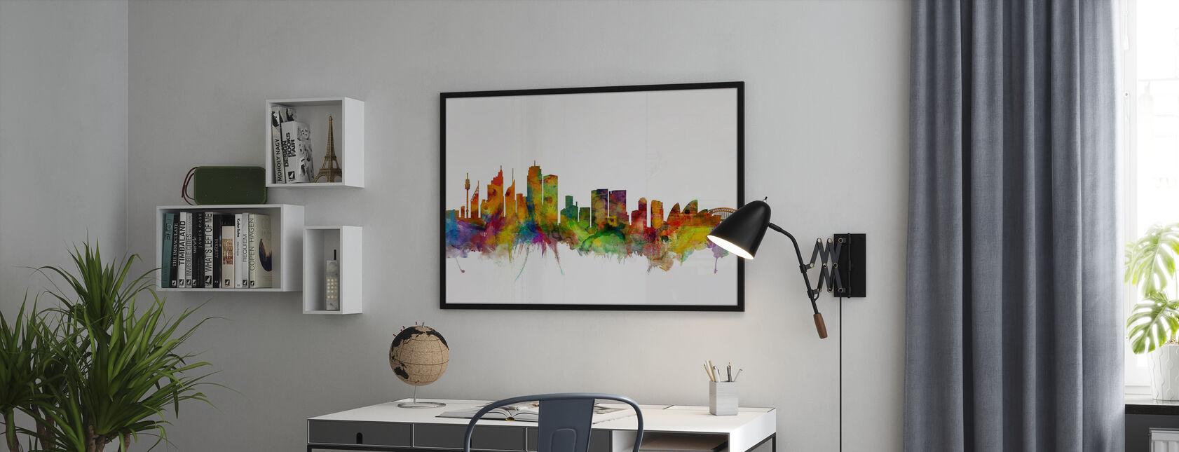 Sydney Skyline - Framed print - Office