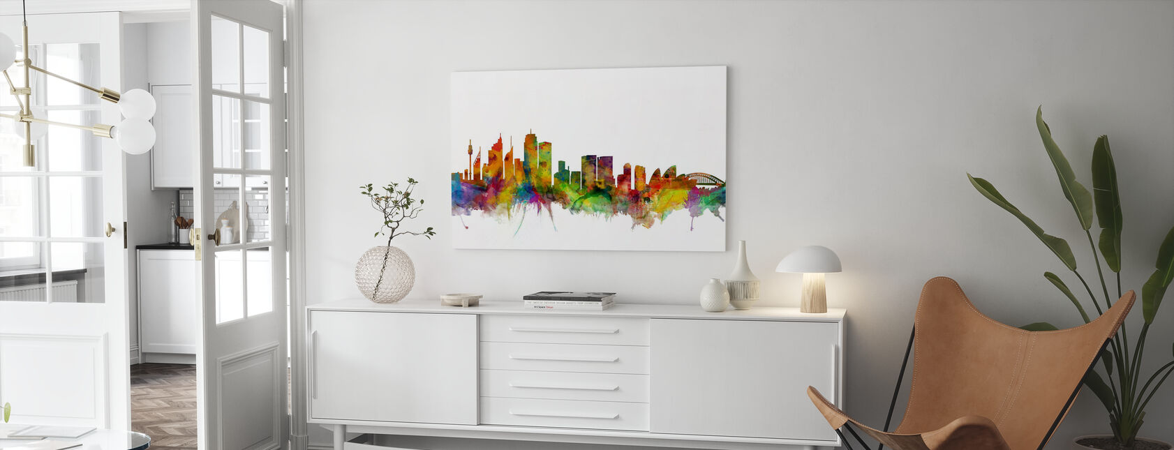 Sydney Skyline - Canvas print - Living Room