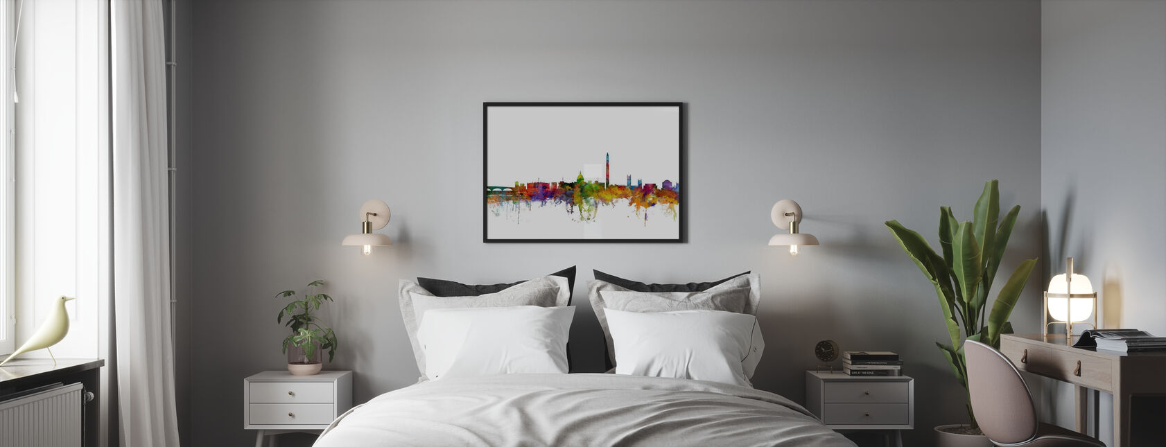 Washington DC Skyline - Poster - Slaapkamer