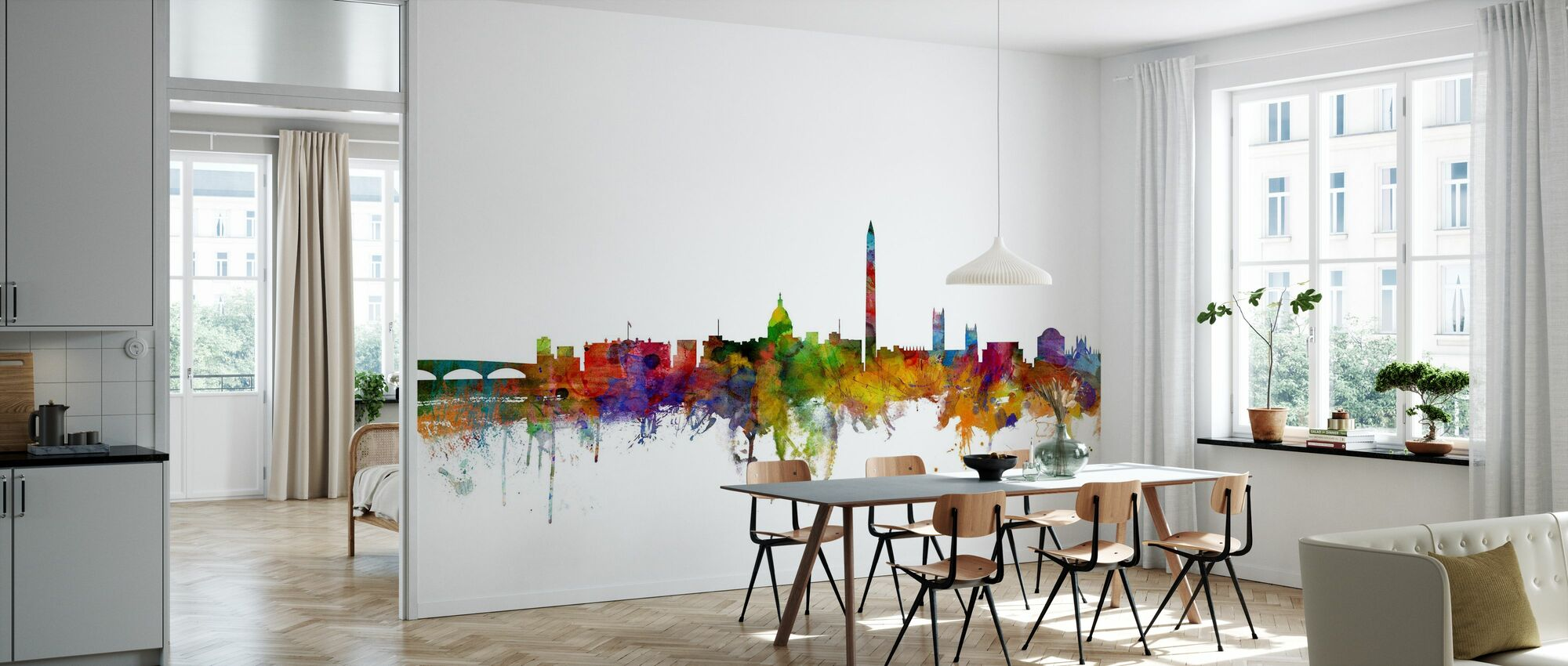 Washington DC Skyline - Wallpaper - Kitchen
