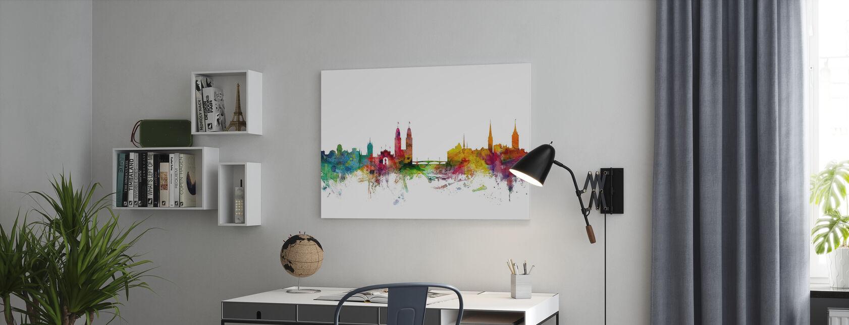 Zurich Skyline - Canvas print - Office