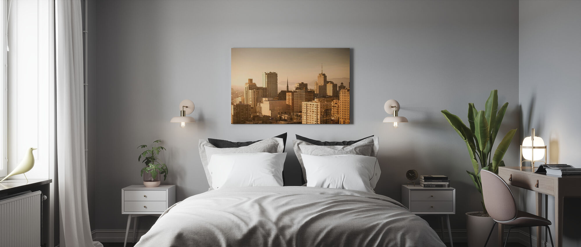 Sparkling San Francisco - Canvas print - Bedroom