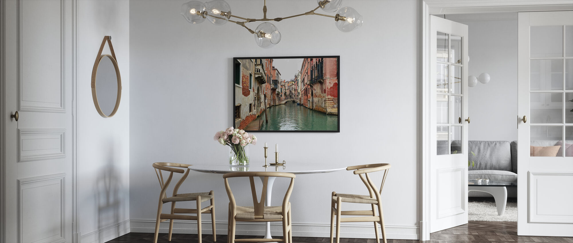 Bricks and Water Alleys in Venice - Framed print - Kitchen