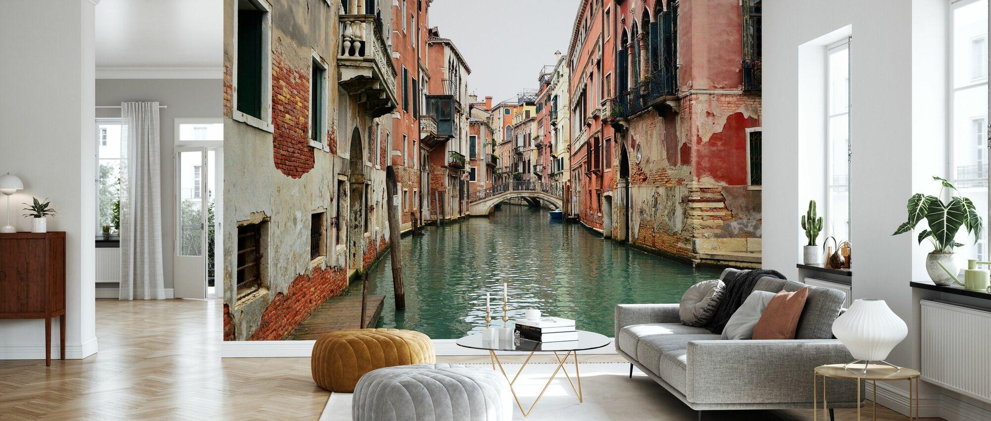 Tiilet ja vesikujat Venetsiassa - Tapetti - Olohuone