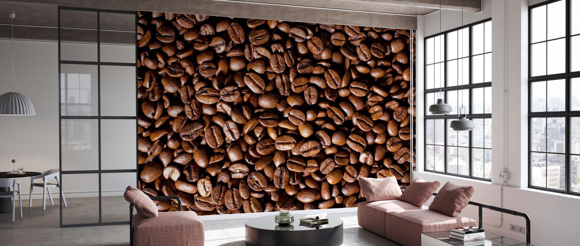 Kaffeebohnen - Tapete - Büro