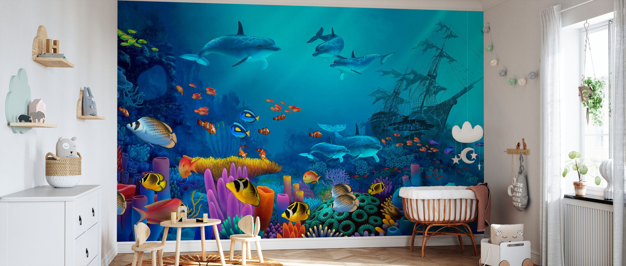 Ocean Colors - Wallpaper - Nursery