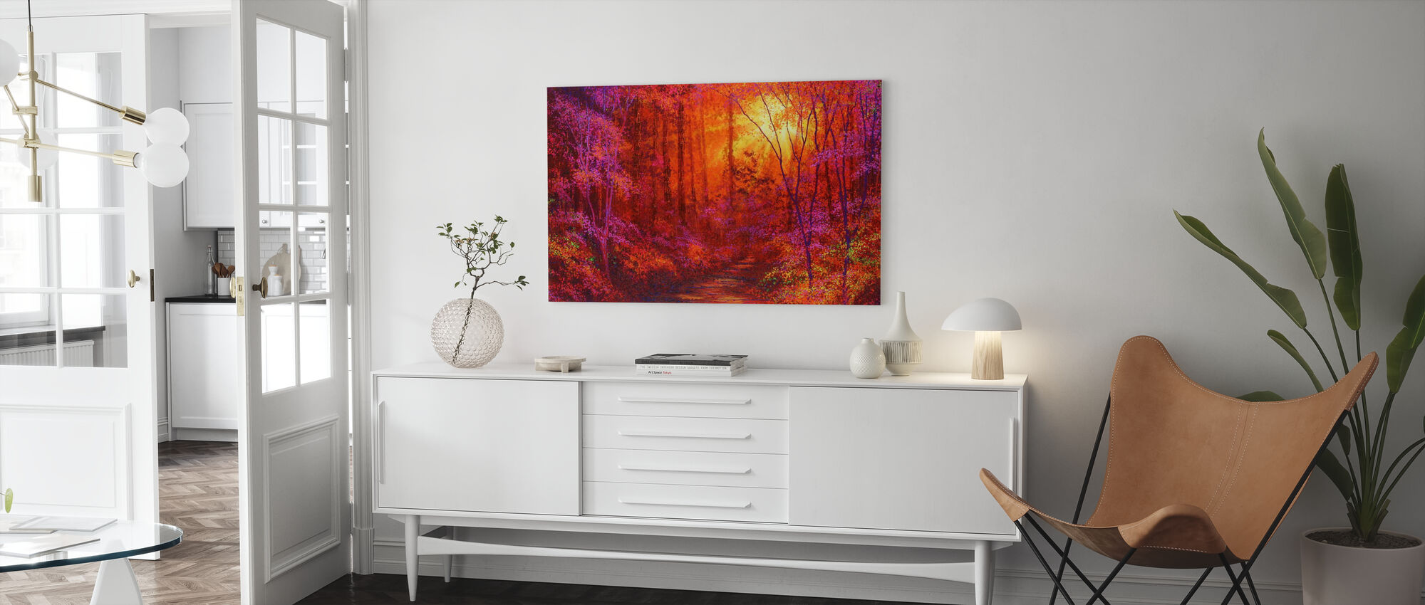 Ruby Forest - Canvas print - Living Room