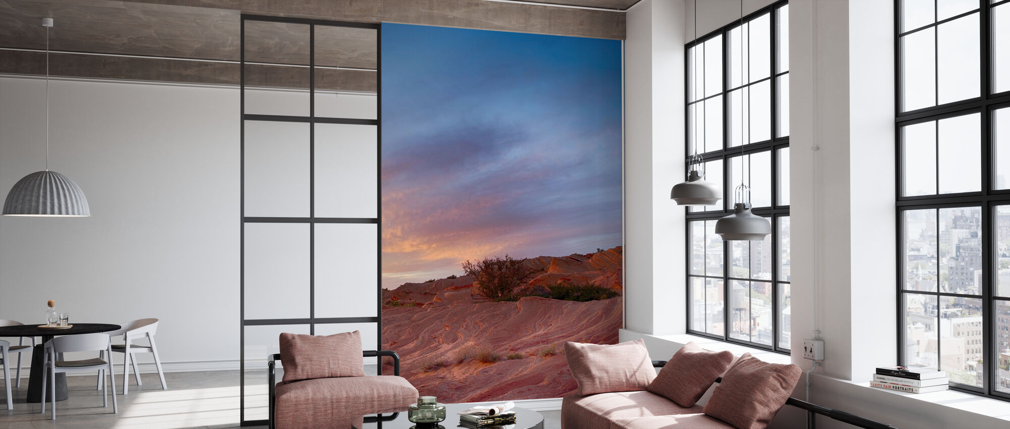 Scène du désert - Papier peint - Bureau