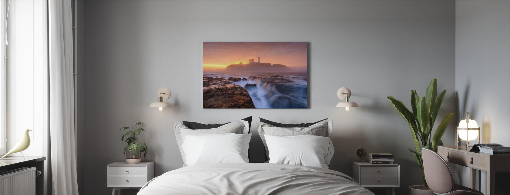 Dimma över tidvattnet - Canvastavla - Sovrum