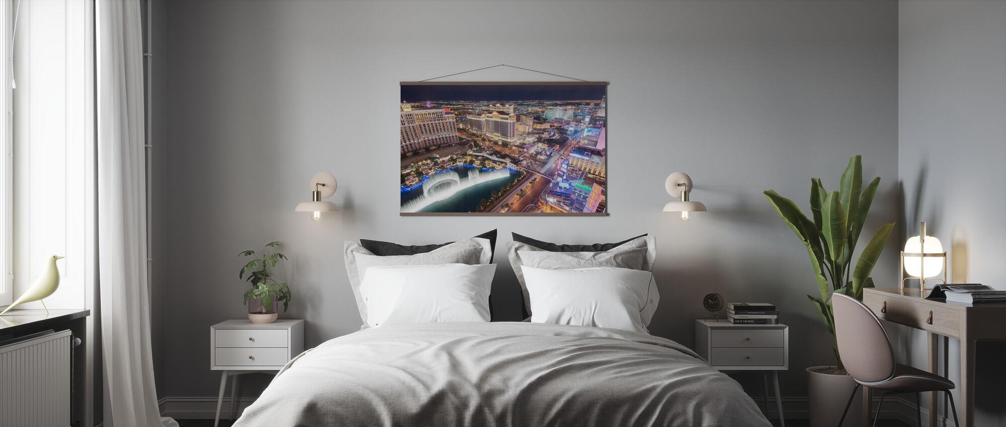 Las Vegas fra luften - Plakat - Soverom