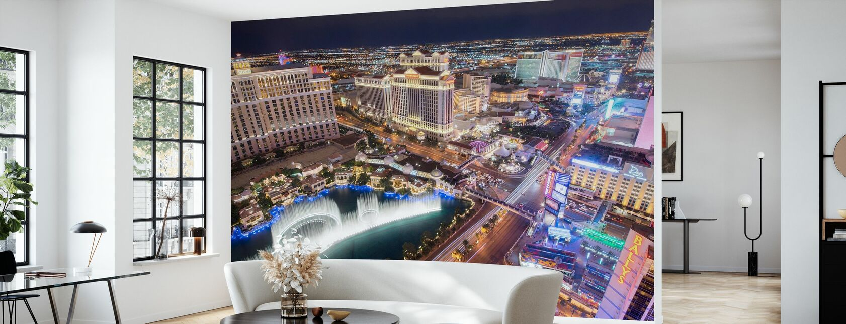 Las Vegas from the Air - Wallpaper - Living Room