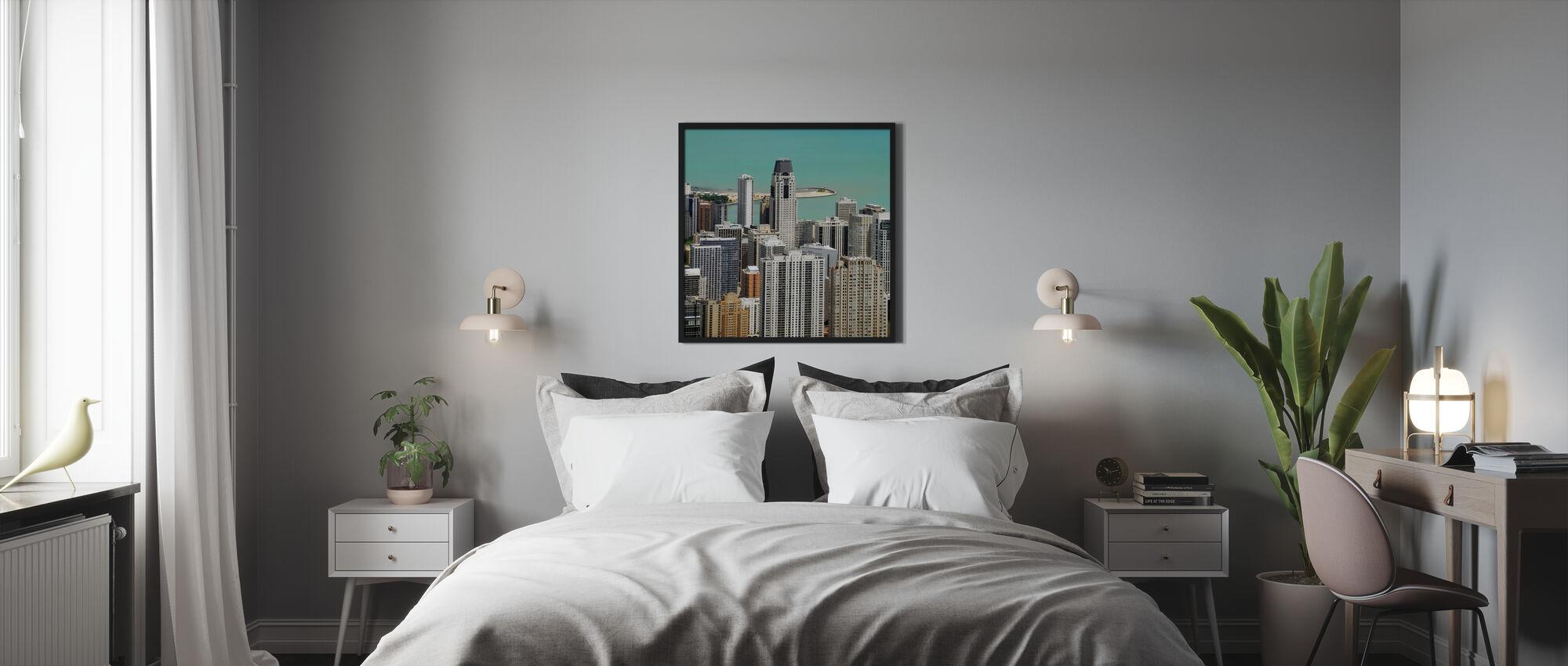 Chicago en Lake Michigan - Ingelijste print - Slaapkamer