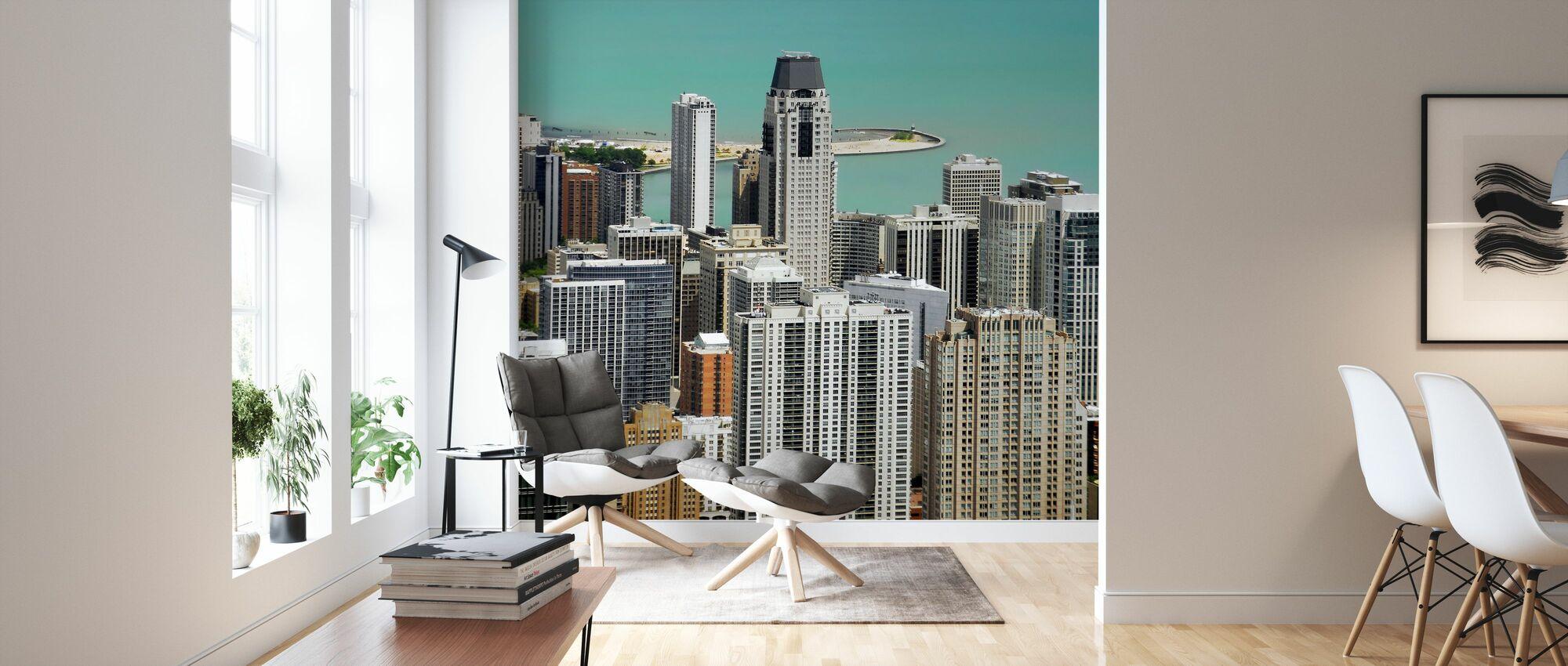 Chicago and Lake Michigan - Wallpaper - Living Room
