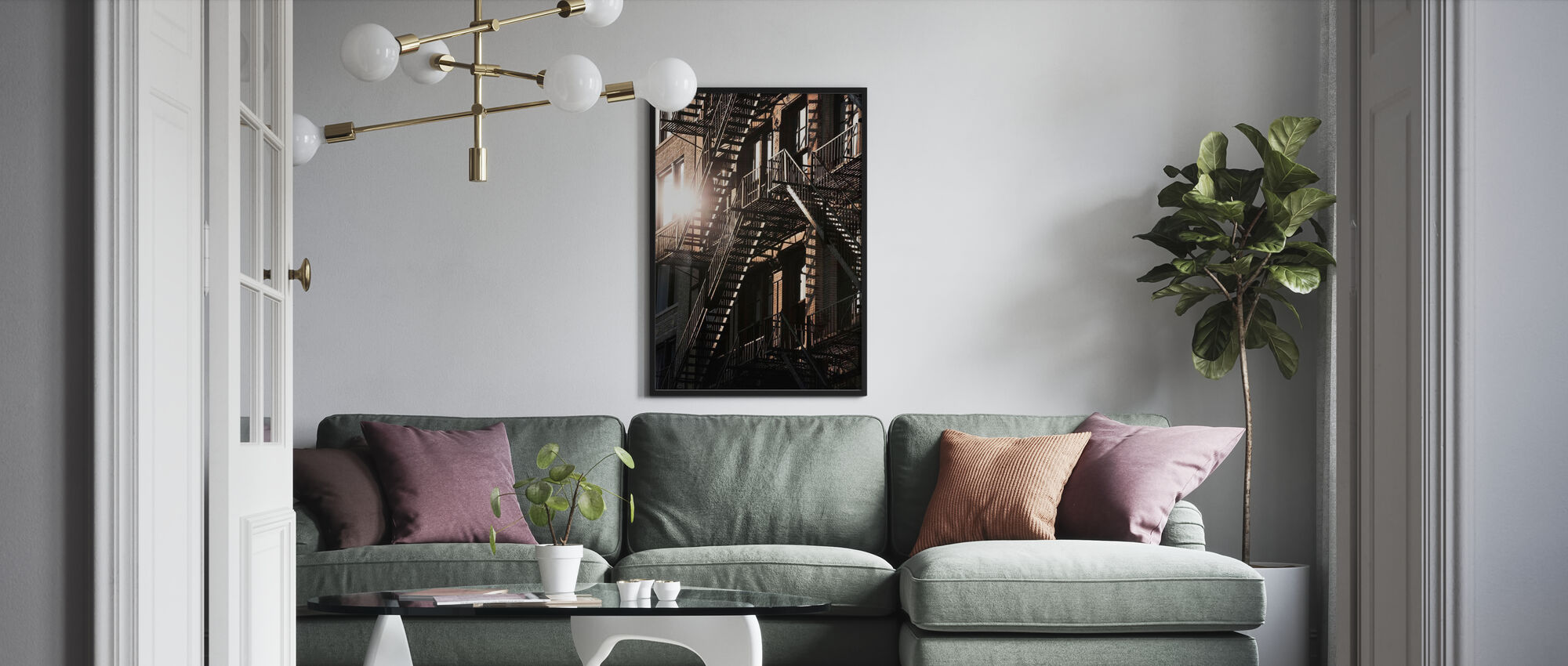 17th Street Fire Escapes - Poster - Living Room