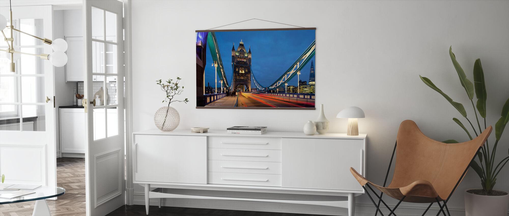 Walk over River Thames - Poster - Living Room