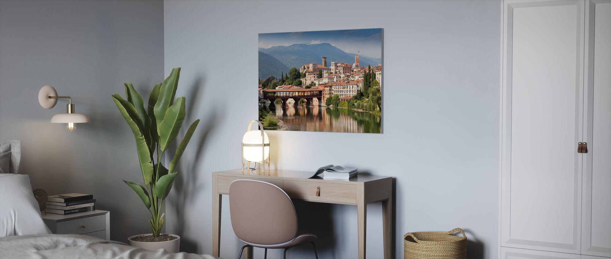 Walls and Bridges - Canvas print - Office