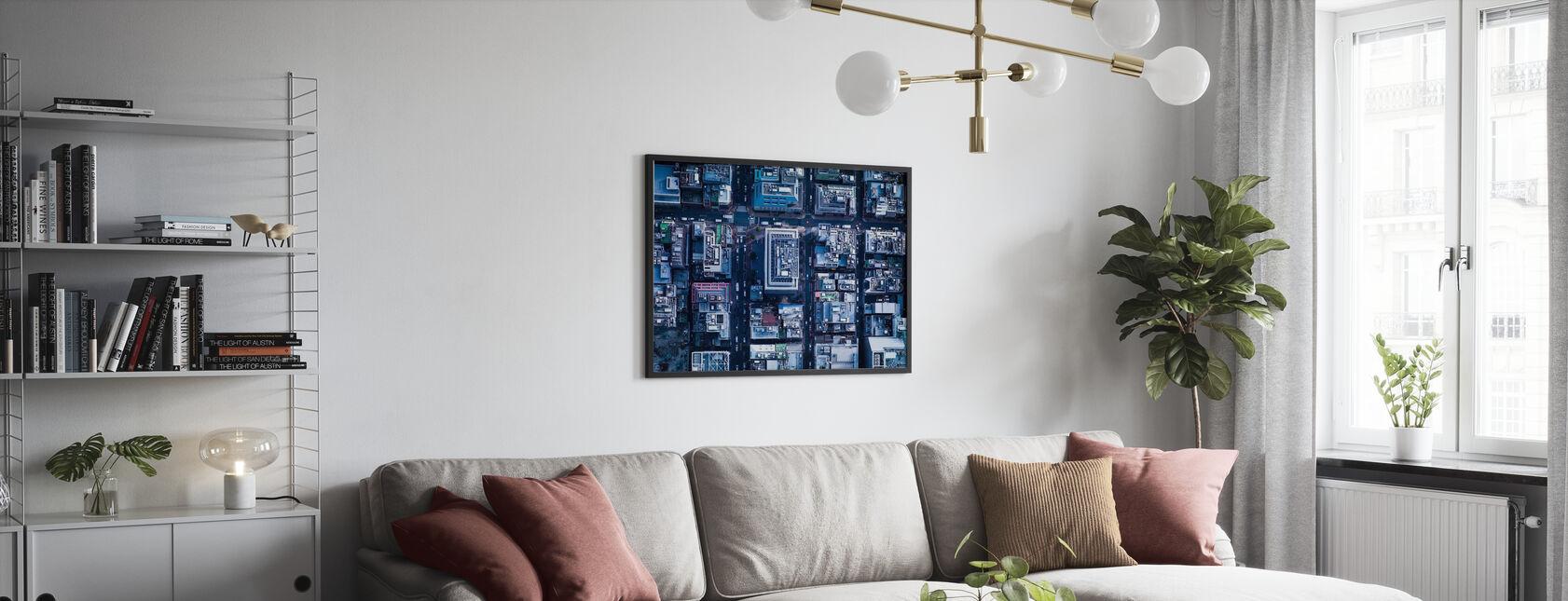Risteys tapa Ginza - Kehystetty kuva - Olohuone