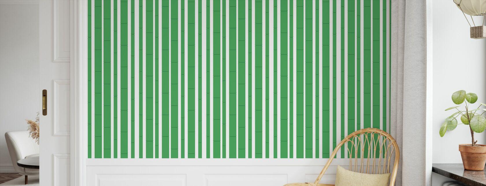 Bambu - Vert - Papier peint - Chambre des enfants