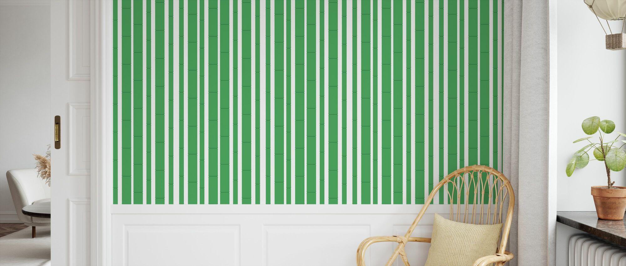Bambu - Green - Wallpaper - Kids Room