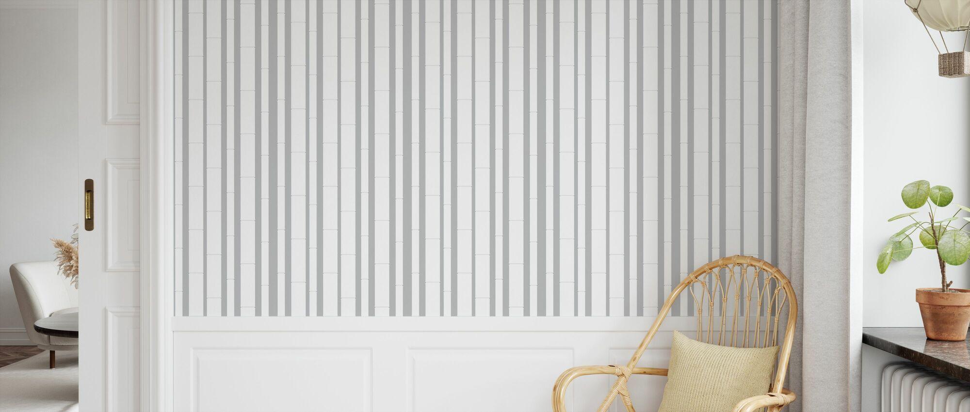 Bambu - Bianco - Carta da parati - Camera dei bambini