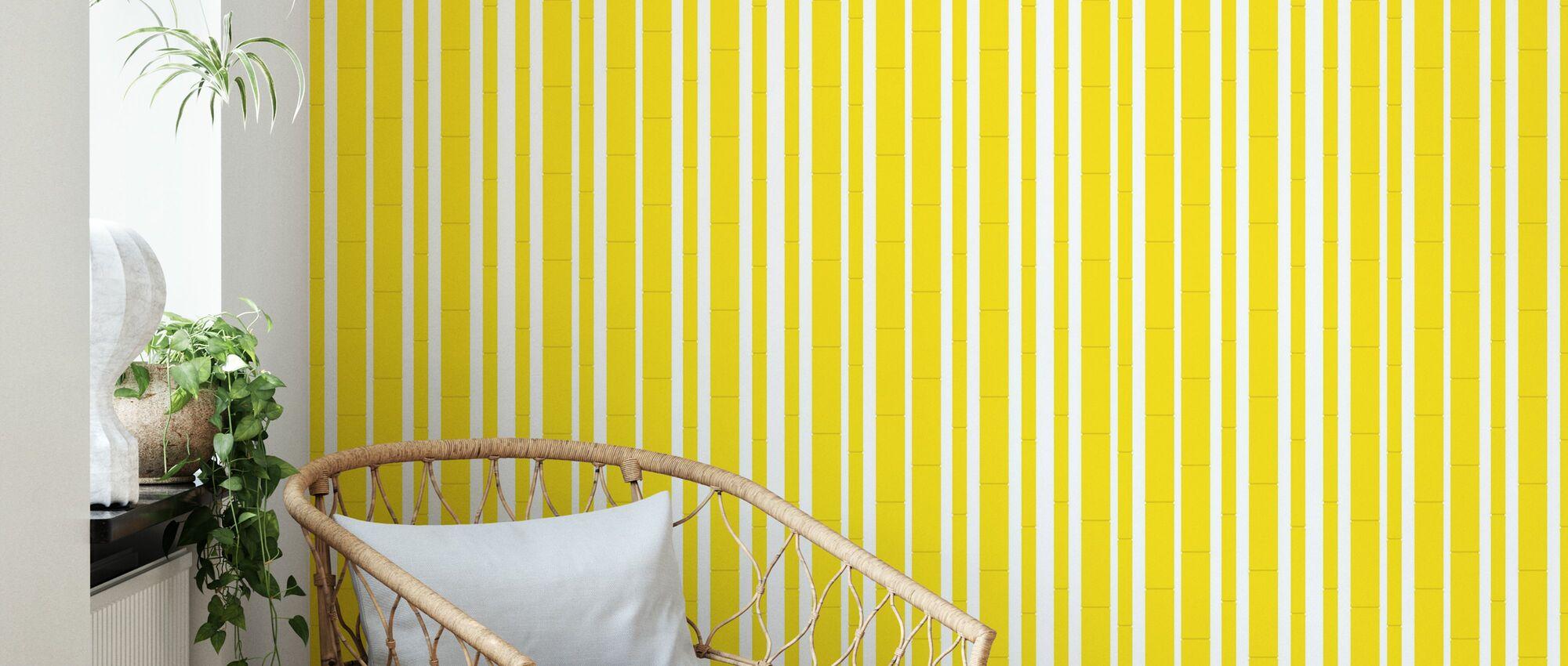 Bambu - Yellow - Wallpaper - Living Room