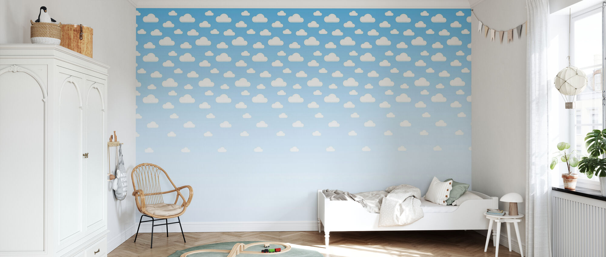 Cumulus - Blue - Wallpaper - Kids Room