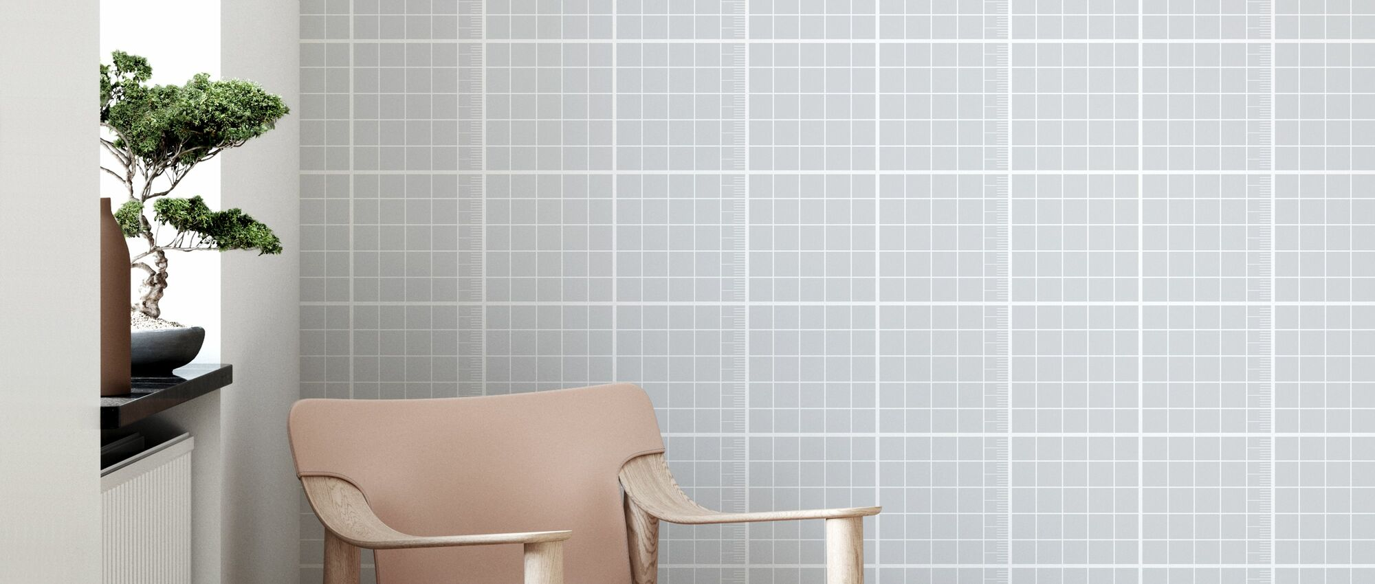 Cubic - Grey - Wallpaper - Living Room