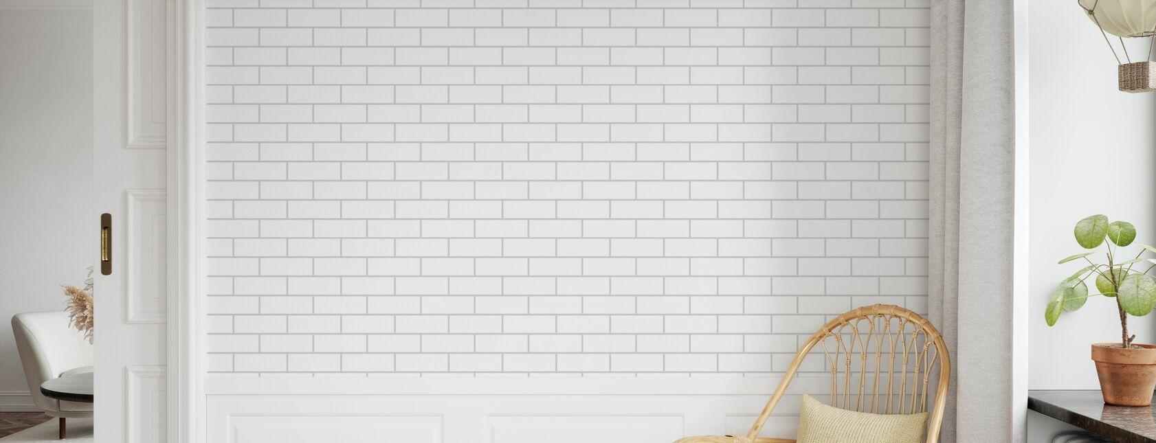 Tegel - Blanc Gris - Papier peint - Chambre des enfants