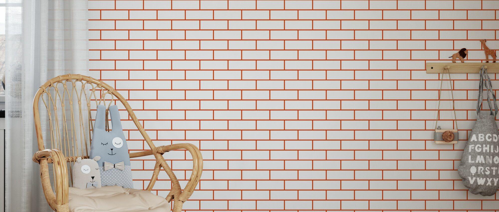 Tegel - Blanc Rouge - Papier peint - Chambre des enfants