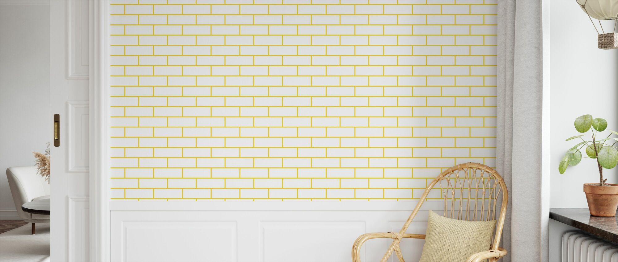 Tegel - White Yellow - Wallpaper - Kids Room
