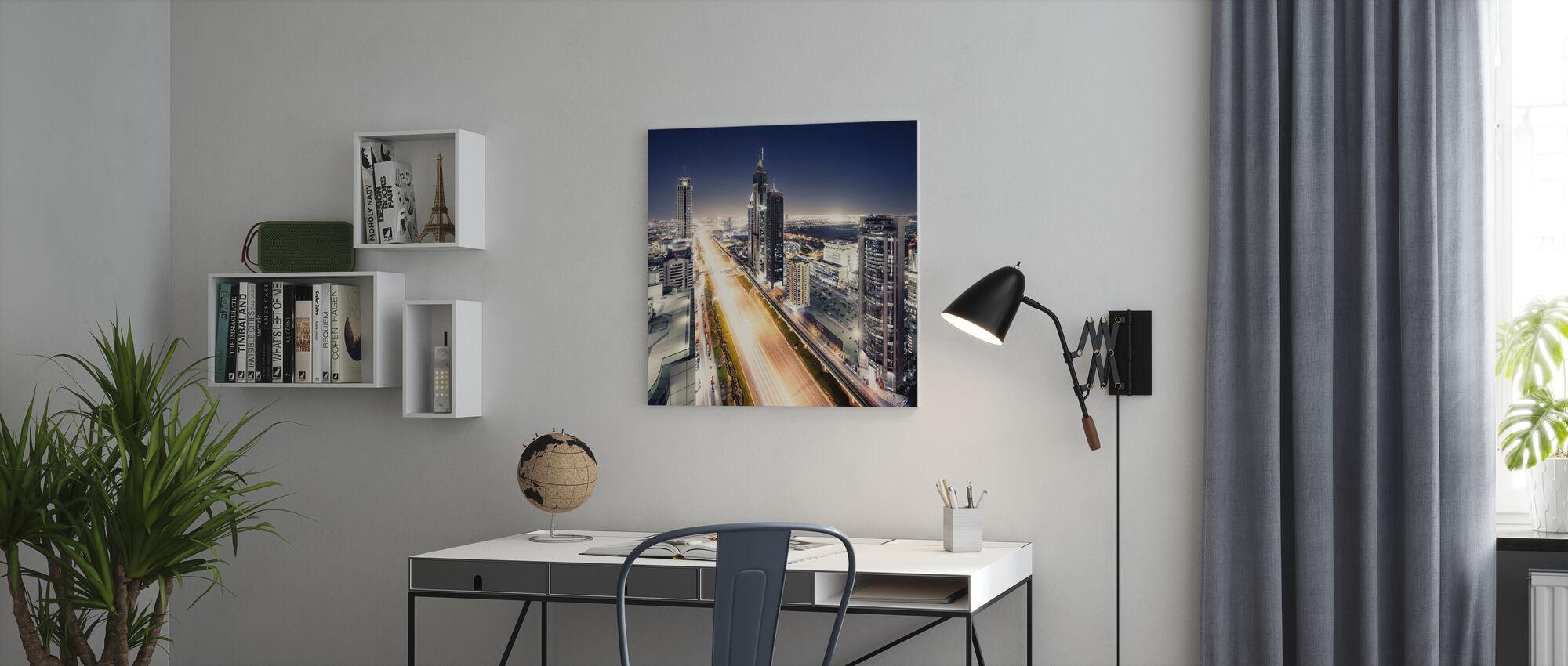 Dubai by Night - Canvas print - Office