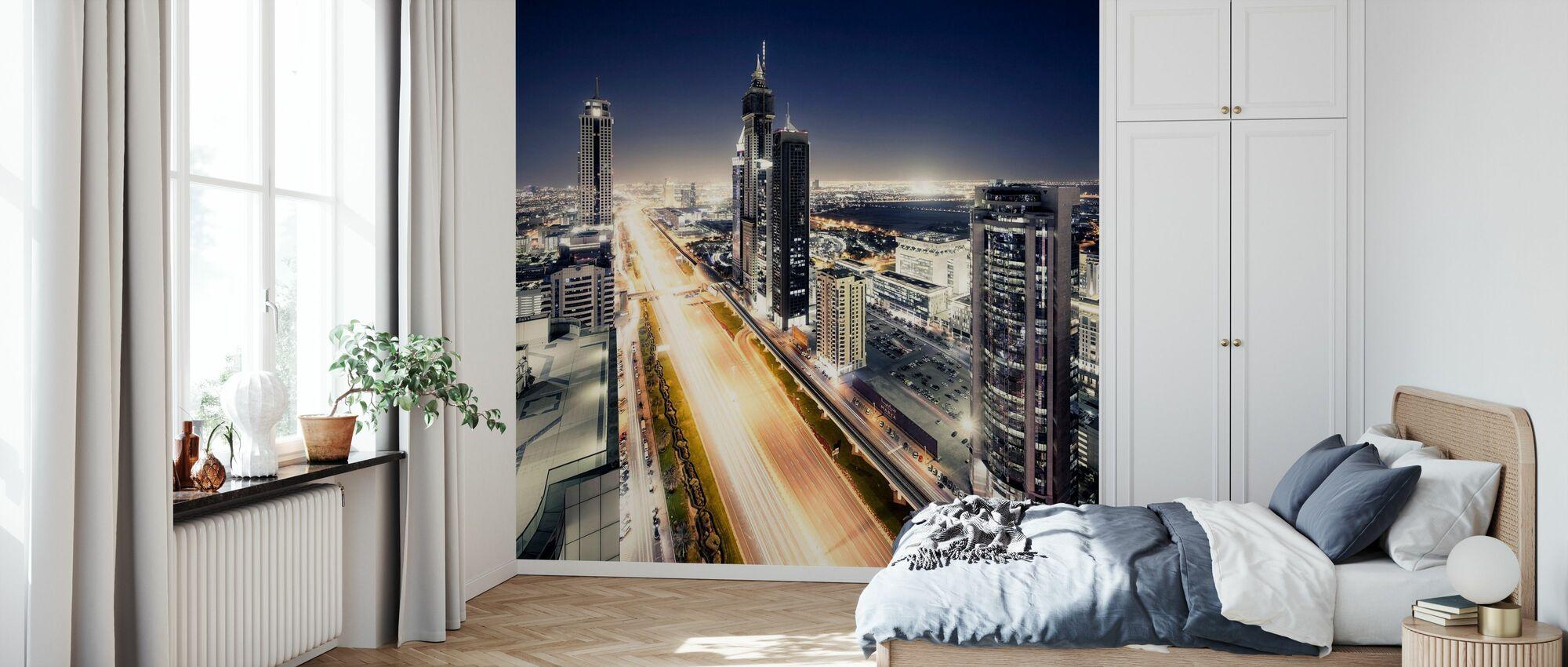 Dubai på natten - Tapet - Sovrum