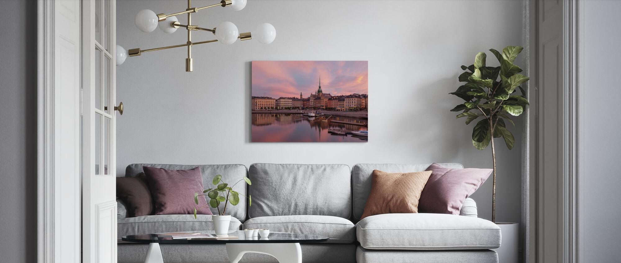 City Between the Bridges - Canvas print - Living Room