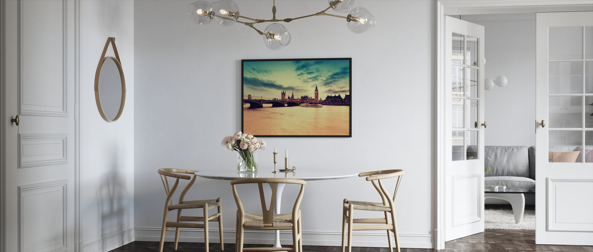 London Golden Evening - Framed print - Kitchen