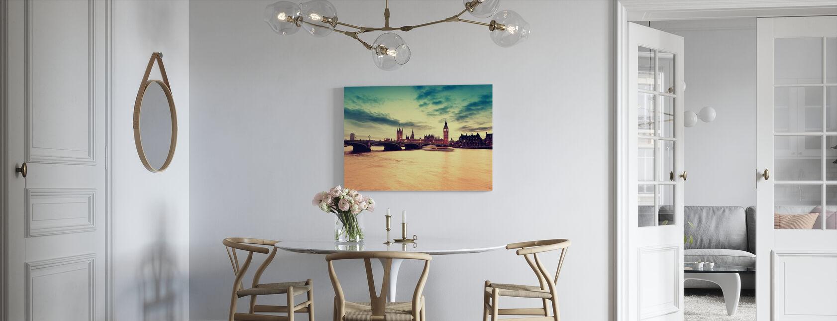 London Golden Evening - Canvas print - Kitchen