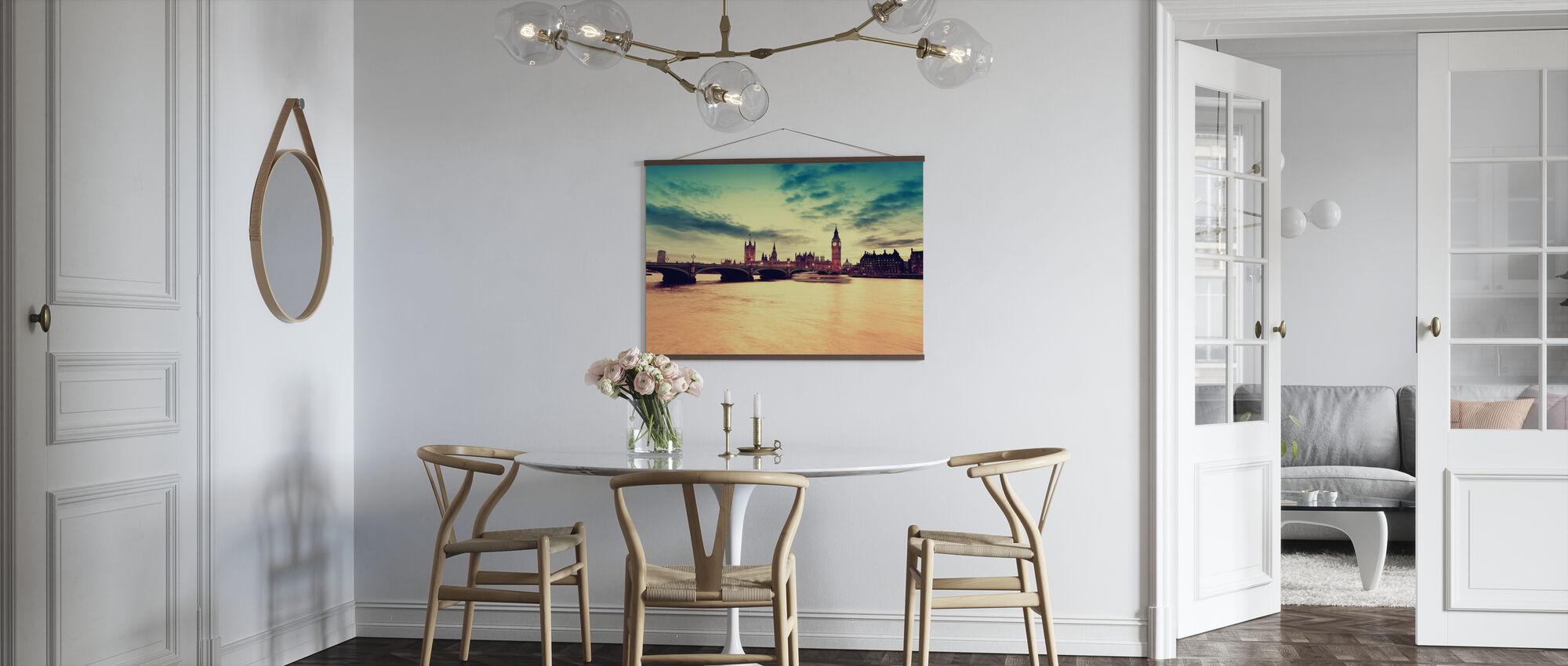 Goldener Abend in London - Poster - Küchen