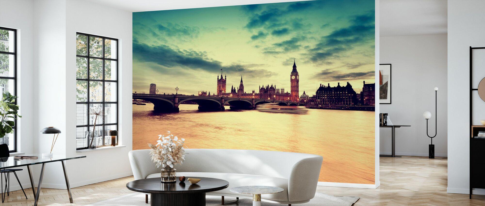 London Golden Evening - Tapet - Stue